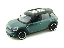 1:24 Mondo Motors Green Mini Cooper S Countryman Metal Diecast Car New & Boxed