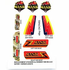 MASK stickers for KENNER M.A.S.K GATOR Stickers Personalized with Extra's
