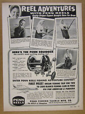 1964 Penn Squidder Reel smith island red drum fishing photos vintage print Ad