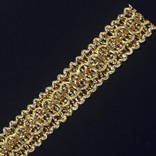 Amazing Metallic Gold Embroidery Lace trim/ribbon - selling by the yard