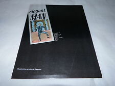 DAVID BOWIE - Mini poster couleurs ELEGANT MAN !!!!!!!!!