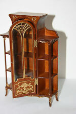 DOLLHOUSE MINIATURE LIVING ROOM  CURIO  DISPLAY  CABINET