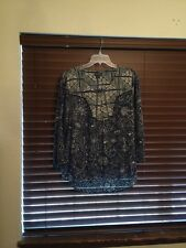 Womens Lucky Brand Multi Color/Print Pullover Top.  Size XL  FUN!!!