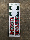 ADI Pro Stock 3mm Helmet Decals Minnesota Wild Green / White / Silver / Red 0501