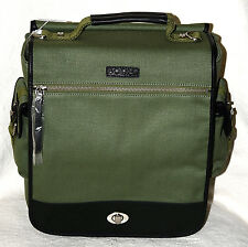 $258 New NWT Bodhi green Vintage Canvas Laptop Flight Carrying Bag Travel