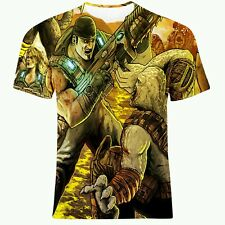 GEARS OF WAR CHAMPION GAME ALLOVER FULL PRINT TWO SIDED ART T-SHIRT! All SIZES!