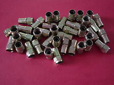 30 rg6 F connectors end coax hex coaxial cable bell tv shaw direct starchoice