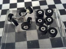HO SLOT CAR  AURORA  T-JET AUTOWORLD WILD ONES Chrome STYLE TIRE & WHEEL LOT