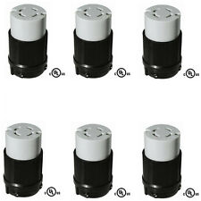 6 Pack of NEMA L14-30R Generator Connector, 30A, 125/250V