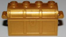 LeGo 2x Castle Pearl Gold Container Treasure Chest Complete Assembly Thick Hinge
