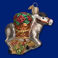 """Pedro"" (Donkey) (12425) Old World Christmas Glass Ornament- Free Gift Box!"