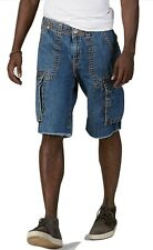 True Religion Cargo Cut Off Big T Denim Shorts Pants Dark Stone 27 Nwt $211