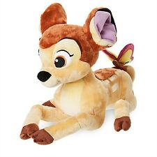 "BAMBI Plush Deer Stuffed Animal Doll Toy Disney Store Medium 13"" Easter reindeer"