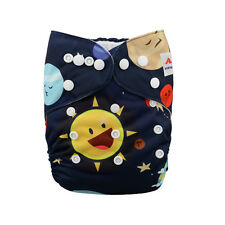 AlvaBaby Printed Reusable Onesize Washable Cloth Diaper Pocket Nappy +1Insert