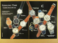 1998 Chronoswiss Regulateur Opus Lunar Pathos Orea 10 Watch photo print Ad