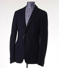 New Z ZEGNA Unstructured Navy Pique Cotton Jersey Blazer M (38-40) Sport Coat