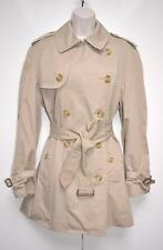 Burberrys Ladies Trench Coat Mac Dark Beige Designer UK 12 / EU 40 Reg Modern