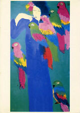 Walasse Ting•Can I Give You a Parrot?•1983 Chinese Watercolor Art POSTCARD
