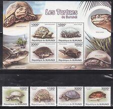 Burundi 897-901 Turtles Mint NH