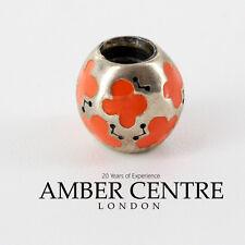 PANDORA Silber und Orange Emaille Schmetterling Amulett 790438EN04