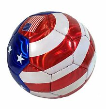 USA Flag Football Soccer Ball All Weather Sporting Goods U.S Official Size