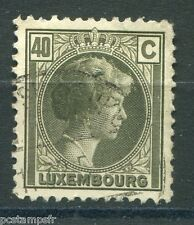LUXEMBOURG, 1926-28, timbre CLASSIQUE 171, G D CHARLOTTE oblitéré, VF used stamp