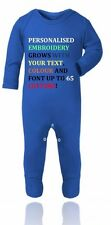 Personalized Your Text Baby Grow,Outfit,Onesie,Sleepsuit Christmas Gift For Baby