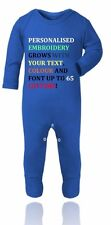 Personalized Your Text Baby Grow,Outfit,Onesie,Sleepsuit Gift for Baby Boy