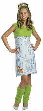 Oscar the Grouch Teen Girl Costume Size Large 10-12