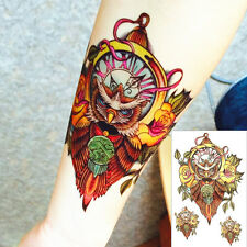 Einmal Tattoo  Fake Tattoo Night Hawk Owl 14x11cm Medium wasserfest HC-2021