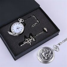 Fullmetal Alchemist Pocket Watch Necklace Ring Edward Elric Anime cosplay Gift A