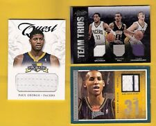 PAUL GEORGE & REGGIE MILLER GAME USED JERSEY CARDS GEORGE HILL GRANGER TH PACERS