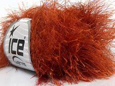 38Yd Copper Extra Long Eyelash Yarn Ice Luxurious Fun Fur 42066