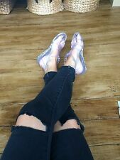 JELLYBEAN CLEAR SANDALS FLATS HOLIDAY Size 5/38
