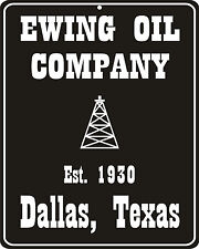 Dallas TV show nostalgic Ewing Oil metal replica sign