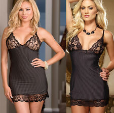 Sexy Lingerie Women's Underwear Nightwear Lace Babydoll Dress Sex Toys WQ31