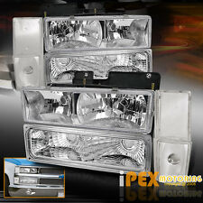 1988-1993 GMC Chevy Silverado Suburban Chrome Headlights + Corner + Signal Light