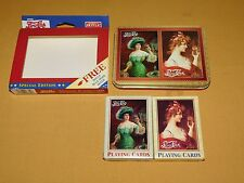 VINTAGE 1997 PEPSI COLA 2 DECKS HOYLE VICTORIAN LADY PLAYING CARDS IN TIN UNUSED