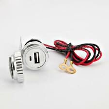 Motorcycle Phone USB Charger For Yamaha V-Star XVS 650 1100 Classic Silverado