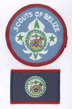 SCOUTS OF BELIZE - Scout Membership Rank Award & Flag Patch SET