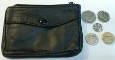 Real Soft Leather Money Coin Purse Keys Wallet Travel Pouch