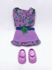 Barbie Kelly Doll Clothes Fashion Avenue Lavender Flower Print Shorts Top Shoes