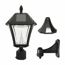 Gama Sonic GS-105FPW-BW GS-105FPW Baytown II Solar Outdoor LED Light Fixture, Po