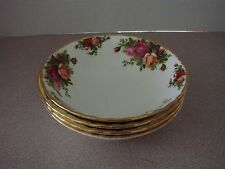 4 Royal Albert Soup / Cereal Bowls England 1962 Old Country Roses Pattern