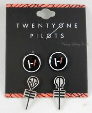 New 21 Twenty One Pilots Band Symbols Earrings Set 2 Pack Post Insertion