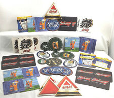 Coasters Party Lot Beers Army Knights Budweiser Blue Moon Adams Dew Liqueur Bars