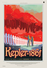 NASA Exoplanet Travel Bureau - Kepler-186f Space Travel Poster Magnet