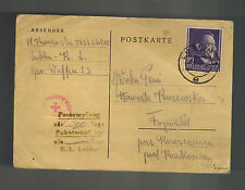 1944 Lublin Concentration Camp KZ Germany Poland PC Cover Package Thank You