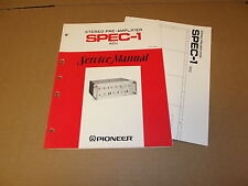 Pioneer SPEC-1 Stereo Pre Amplifier Original Service Manual