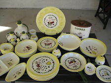 BROCK OF CALIFORNIA 50'  NEW/OLD/STOCK 48 PCS FARMHOUSE DINNERWARE POTTERY SET